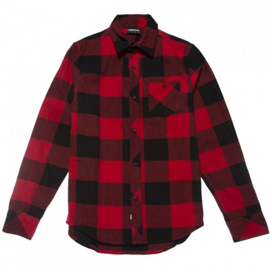 The Hundreds Highland Flannel Shirt - Red