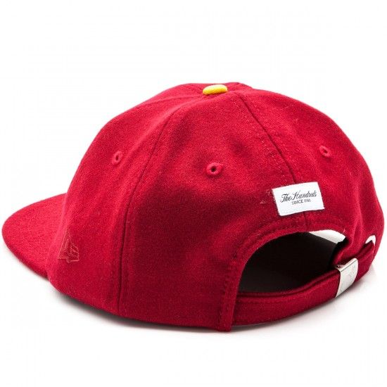 The Hundreds Meaning New Era Strapback Hat - Burgundy