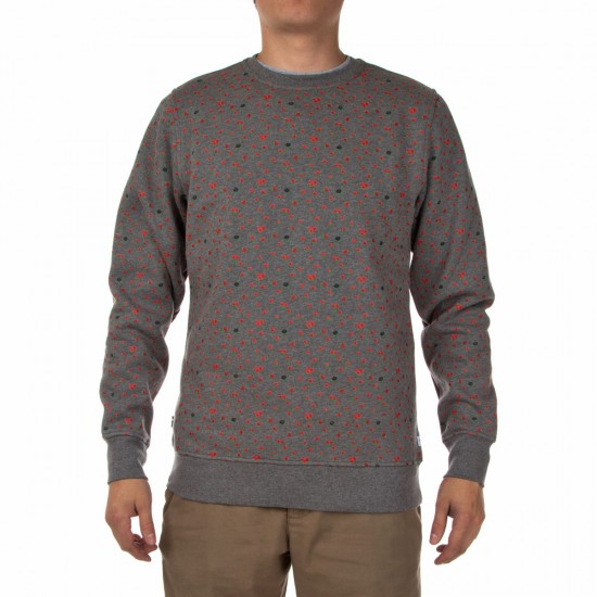 The Hundreds Rosewell Crewneck Sweatshirt - Athletic Heather