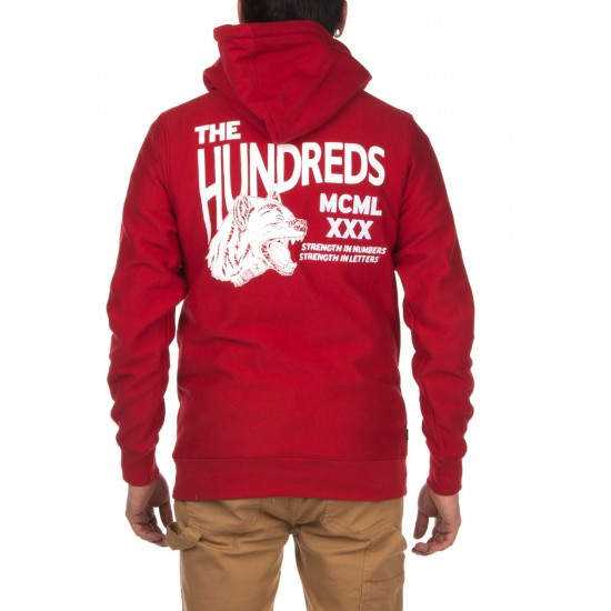 The Hundreds Sage Pullover Hoodie - Red