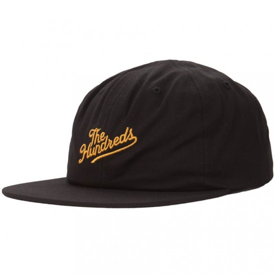 The Hundreds Slant Snapback Hat - Black