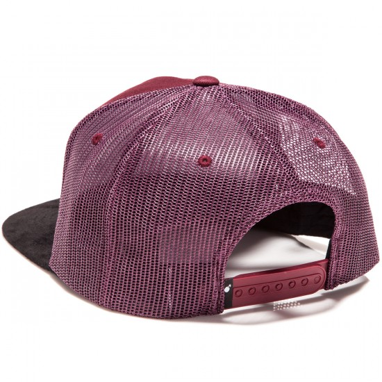 The Hundreds Slant Snapback Hat - Burgundy