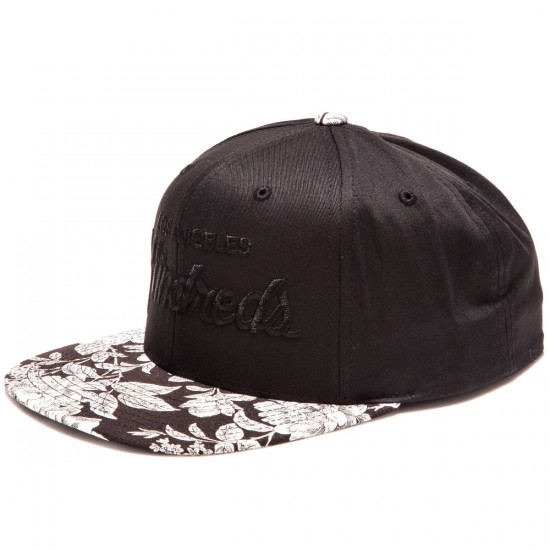The Hundreds Team Floral Snapback Hat - Black