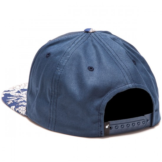 The Hundreds Team Floral Snapback Hat - Navy