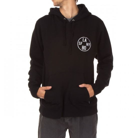The Hundreds Time Zone Pullover Hoodie - Black