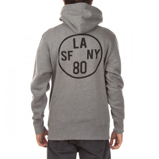 The Hundreds Time Zone Pullover Hoodie - Gunmetal Heather