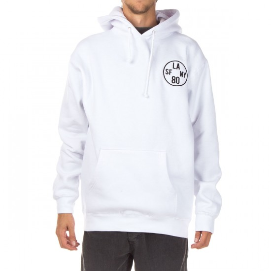 The Hundreds Time Zone Pullover Hoodie - White