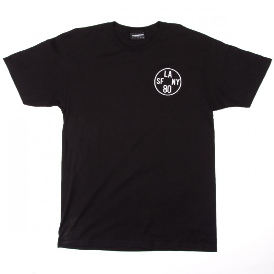 The Hundreds Time Zone Soft Fit T-Shirt - Black