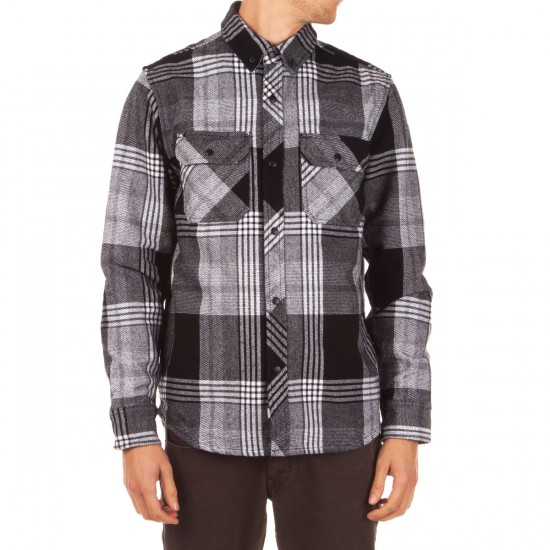 The Hundreds Town Long Sleeve Flannel Shirt - White