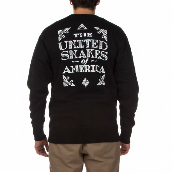 The Hundreds United Snakes Crewneck Sweatshirt - Black
