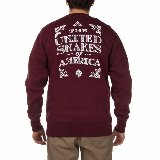 The Hundreds United Snakes Crewneck Sweatshirt - Maroon