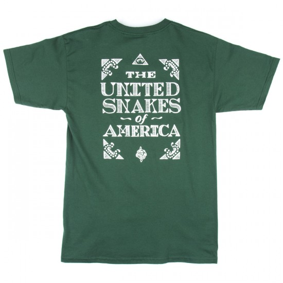 The Hundreds United Snakes T-Shirt - Forest Green
