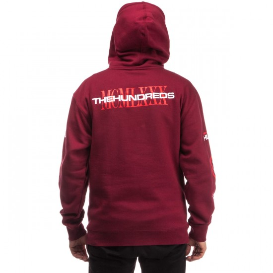 The Hundreds Water Wide Pullover Hoodie - Cardinal
