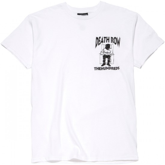 The Hundreds X Death Row Crest T-Shirt - White