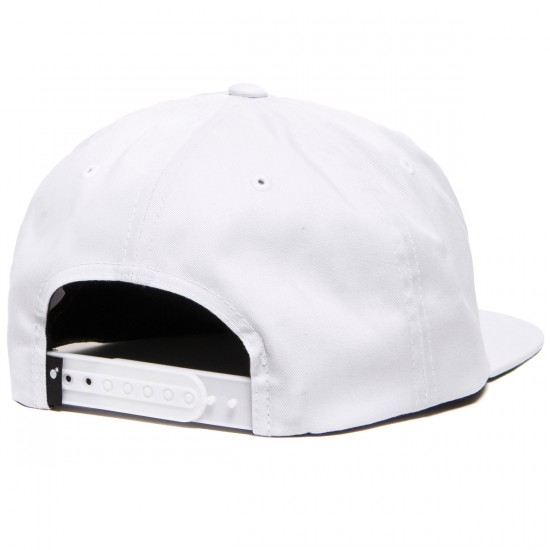 The Hundreds X Death Row Death Snapback Hat - White