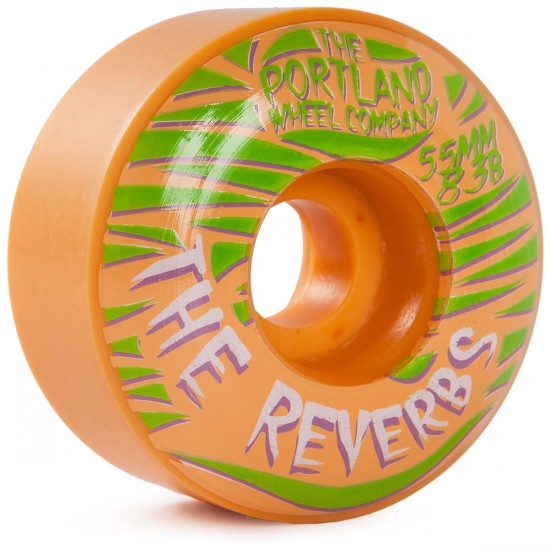 The Portland Wheel Co. The Reverbs Skateboard Wheels 55mm 83b - Orange