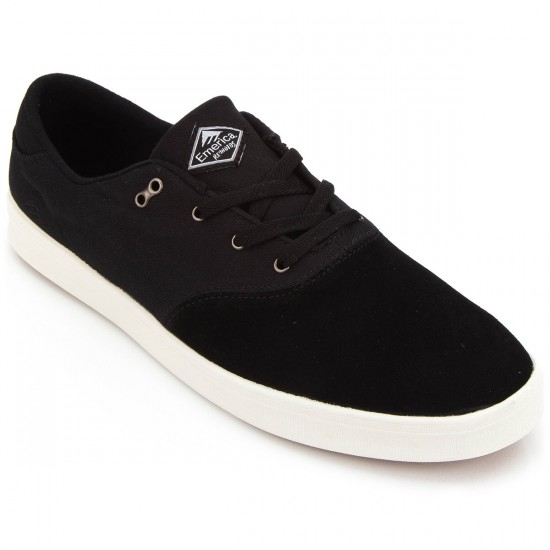 Emerica The Reynolds Cruiser LT Shoes - Black/White/Gum - 10.0