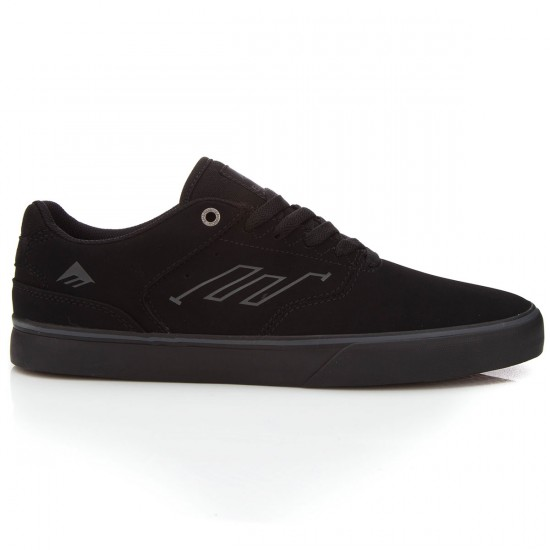 Emerica The Reynolds Low Vulc Shoes - Black/Black/Black - 6.0
