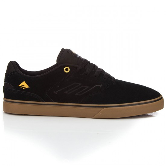 Emerica The Reynolds Low Vulc Shoes - Black/Gum - 7.0