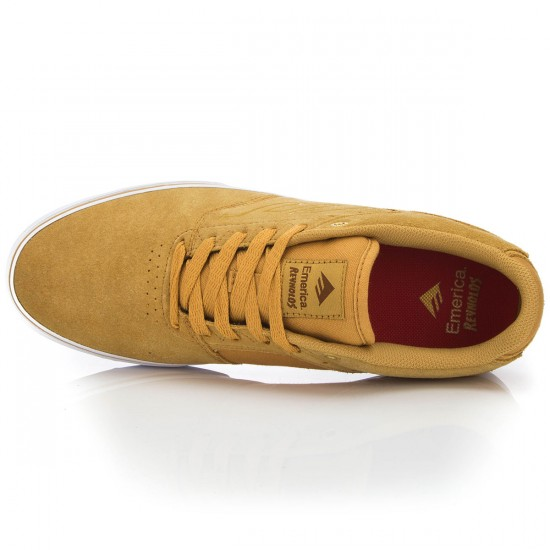 Emerica The Reynolds Low Vulc Shoes - Tan/White/Gum - 8.0