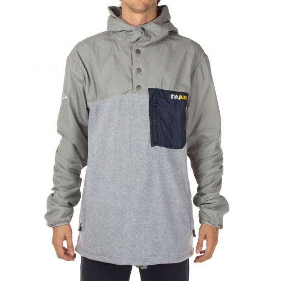 Thirty Two PAS 1/4 Zip Polar Fleece Hoodie - Grey/Heather