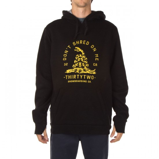 Thirty Two Shredless Pullover Fleece Hoodie - Black