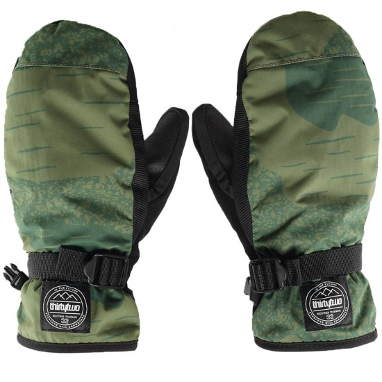 Thirty Two Yates Mitt Snowboard Gloves - Camo