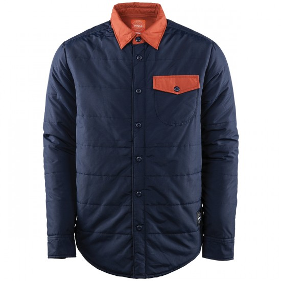 Thirtytwo Lakeview Repel Water-Resistant Button Up Tech Fleece 2015 - Navy
