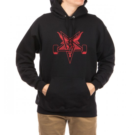 Thrasher Blackout Hoodie - Black/Red