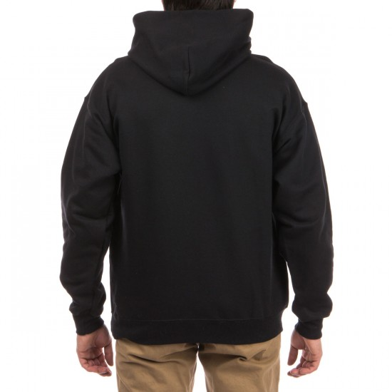 Thrasher Blackout Hoodie - Black/White