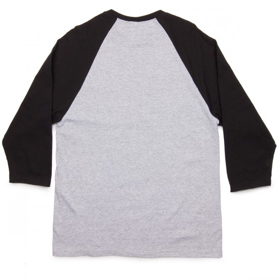 Thrasher Flame Raglan T-Shirt - Grey/Black
