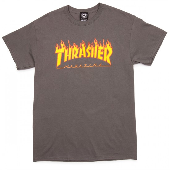 Thrasher Flame T-Shirt - Charcoal