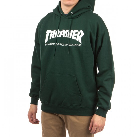 Thrasher Skate Mag Hoodie - Forest Green