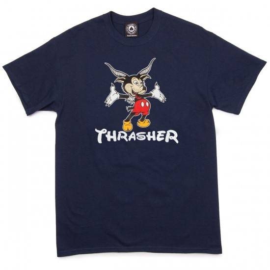 Thrasher Mousegoat T-Shirt - Navy