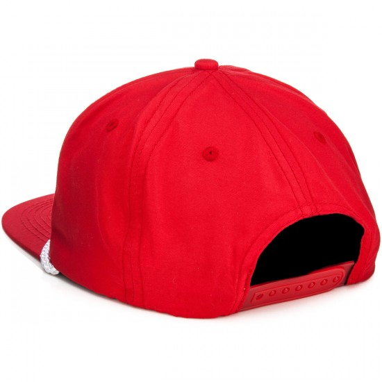 Thrasher Rope Snapback Hat - Red/White
