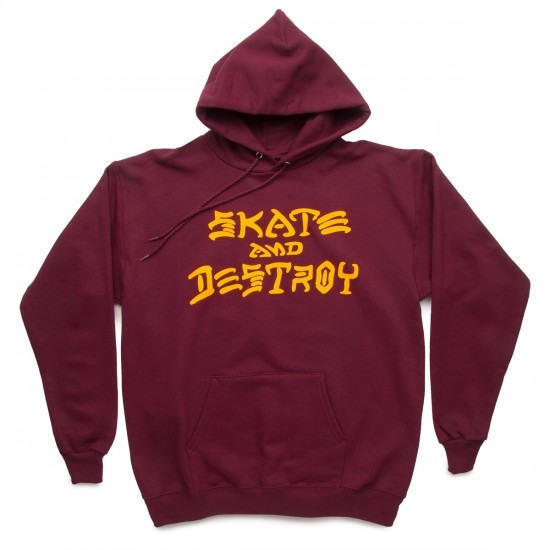 Thrasher Skate And Destroy Hoodie Sweatshirt - Maroon