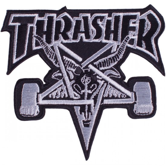 Thrasher Skate Goat Patch - Black
