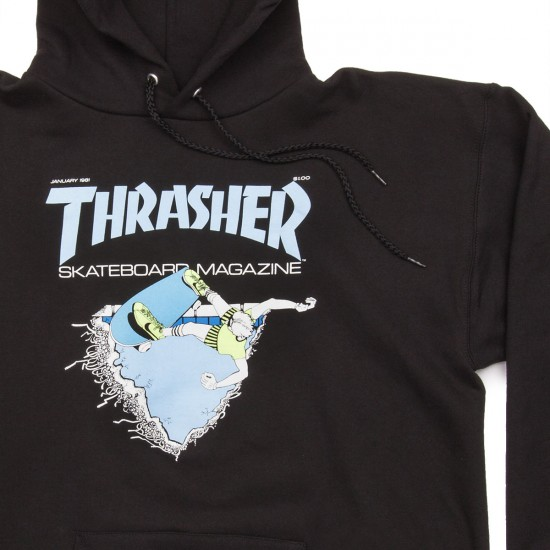 Thrasher First Cover Hoodie - Black