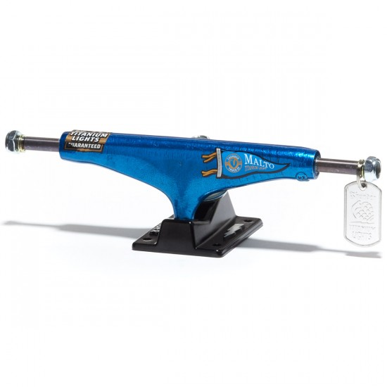 Thunder Malto Pennant Titanium Light Skateboard Trucks - Blue/Black