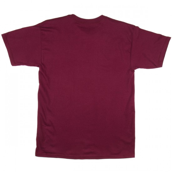 Thunder Stock Grenade T-Shirt - Burgundy/White