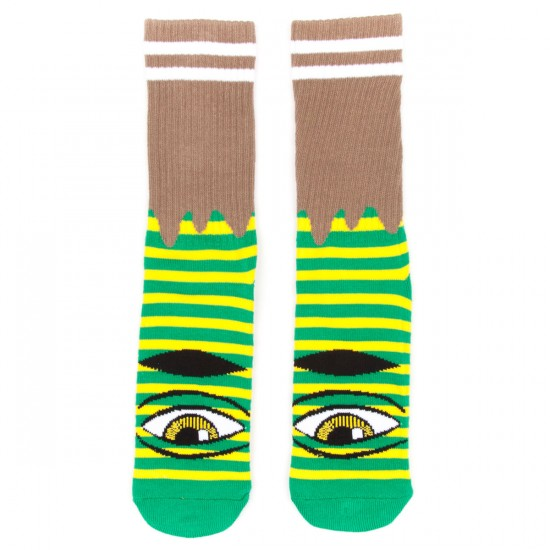 Toy Machine Skateboards Sect Eye Stripe Socks - Yellow