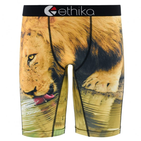 Ethika You Thirsty Boxer Brief - Brown/Black