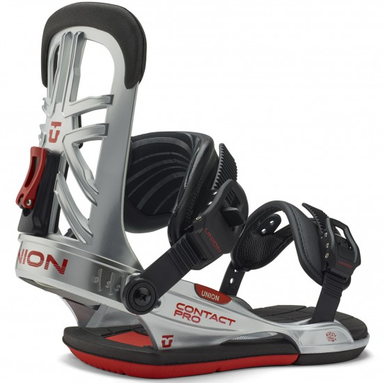Union Contact Pro Snowboard Bindings 2015 - Chrome