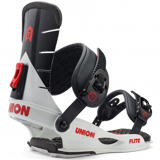 Union Flite Snowboard Bindings 2015 - White/Black