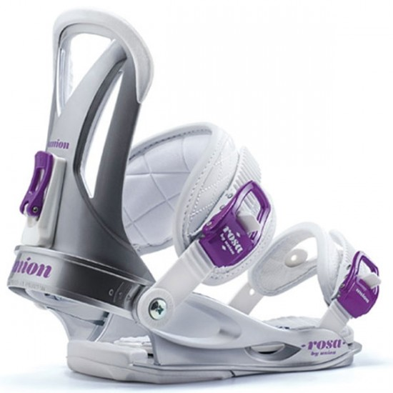 Union Rosa Snowboard Bindings - Silver - Women's 2014