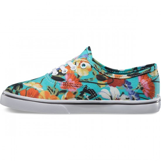 Vans Authentic Lo Pro Floral Youth Shoes - Smoked Pearl/True White - 4Y