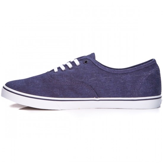 Vans Authentic Lo Pro Womens Shoes - Washed Canvas/True White - 5.0
