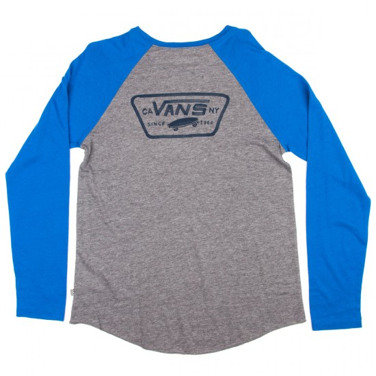 Vans Authentic Rags Womens T-Shirt - Grey Heather/Nautical Blue
