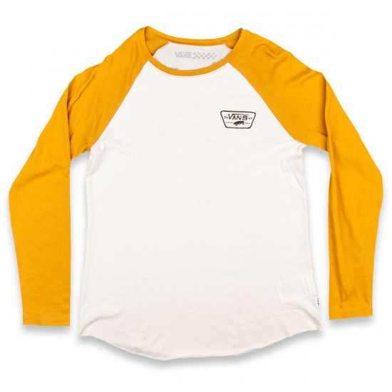 Vans Authentic Rags Womens T-Shirt - White Sand/Spruce Yellow