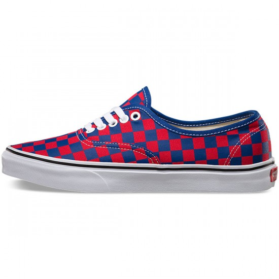 Vans Golden Coast Authentic Shoes - Blue/Red Checker - 9.5